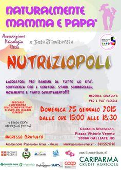 #nutriziopoli - il 25 Gennaio dalle 15 alle 18,30 al Castello di Galliate