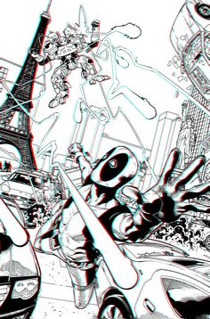 Deadpool 3D Anaglyph by ~xmancyclops on deviantART