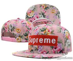 Supreme Snapback Flower Pink|only US$8.90,please follow me to pick up couopons.