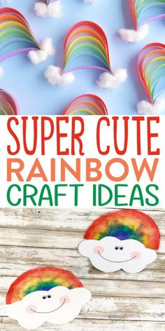Rainbow crafts are perfect for St. Patrick's Day for sure, but we love them all year long. These Super Cute Rainbow Craft Ideas we have rounded up will give you plenty of inspiration for creating your own special craft projects. #crafts #DIY #craftprojects #rainbow #stpatricksday