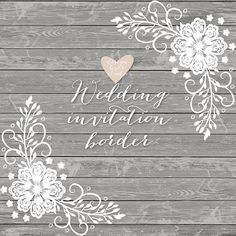 Premium VECTOR Lace Border Rustic Wedding Invitation Frame Clipart White Shabby Chic