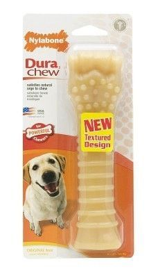 DOG TOYS - RUBBER AND PLASTIC - NYLABONE DURA CHEW TEXTURED - SOUPER - ORIGINAL - CENTRAL - TFH PUBLICATIONS - UPC: 18214555193 - DEPT: DOG PRODUCTS