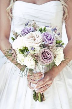 Floral Design: Patti Cramer of Simple Elegance / Wedding Dress: Priscilla of Boston #wedding #bouquet