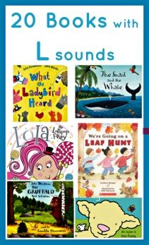 20 'L' Books for Preschoolers. A great list of picture books for practicing 'l' words.
