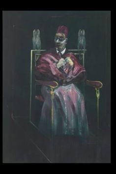 """Francis Bacon - """"Le Pape aux hiboux"""", 1958 - Huile sur toile - 198 x 142 cm"""