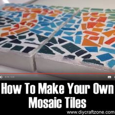 How To Make Your Own Mosaic Tiles ►► http://www.diycraftzone.com/how-to-make-your-own-mosaic-tiles/?i=p