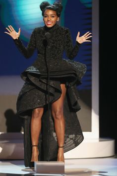 Actress Janelle Monae onstage at the 48th NAACP Image Awards at Pasadena Civic Auditorium on February 11, 2017 in Pasadena, California.