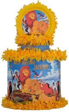 World of Pinatas - Lion King Personalized Pinata, $39.99 (http://www.worldofpinatas.com/lion-king-personalized-pinata/)