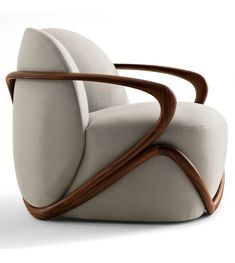 Lounge chairs: Hug Armchair by Giorgetti — ECC Lighting & Furniture love this chair. would love to have a very cool modern with lots of design chair at some point in the house Plywood Furniture, Furniture Decor, Modern Furniture, Furniture Design, Poltrona Design, Malm, Take A Seat, Sofa Chair, Swivel Chair