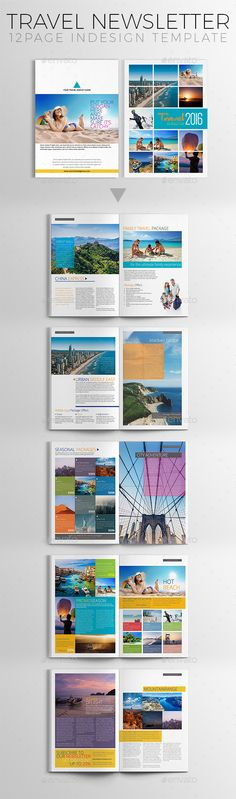 Travel Newsletter Template - Newsletters Print Templates Download here : https://graphicriver.net/item/travel-newsletter-template/18608068?s_rank=37&ref=Al-fatih