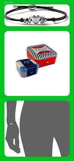 Fossil Damen-Ketten Edelstahl Rundschliff Oxyde de Zirconium - 14ea Nike Logo, Chains, Stainless Steel, Wristlets, Schmuck