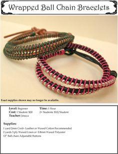 Wrapped Ball Chain Bracelet
