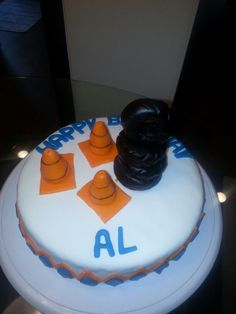 Cake for tire shop owner