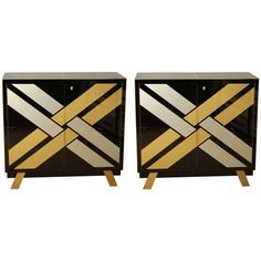 Pair of Buffets All in Mirror | From a unique collection of antique and modern buffets at http://www.1stdibs.com/furniture/storage-case-pieces/buffets/