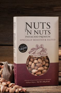 Nuts n Nuts Pistachios Premium on Packaging of the World - Creative Package Design Gallery Food Packaging Machine, Fruit Packaging, Food Packaging Design, Packaging Design Inspiration, Box Packaging, Sugar Packaging, Organic Packaging, Chocolate Packaging, Coffee Packaging