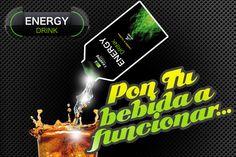 ¡Los días siempre son mejores con las pilas bien cargadas con tu bebida energética favorita #EnergyDrink!
