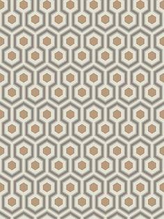 DecoratorsBest - Detail1 - CS 95/3017 - HICKS HEXAGON GOLD/TAUPE - Wallpaper - - DecoratorsBest