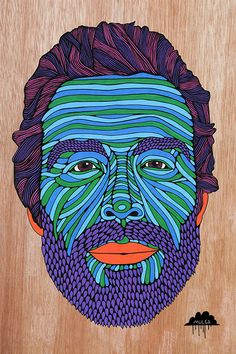 Mat-McHugh-Mulga The Artist Beard Colour, Beard Art, Political Art, Arte Popular, Art Archive, Street Artists, Art Forms, Adult Coloring, Pop Art