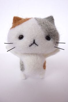 wool felt cat craft #diy #cat #craft #wool #felt