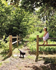 Garten mit kind und katze :-):