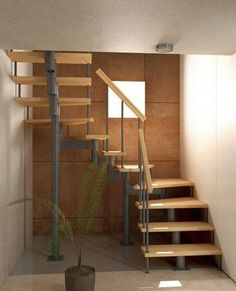 Inventive Staircase Design Tips for the Home – Voyage Afield Spiral Staircase Plan, Small Staircase, Loft Staircase, Staircase Railings, Staircase Design, Spiral Staircases, Stairs In Living Room, House Stairs, Basement Stairs