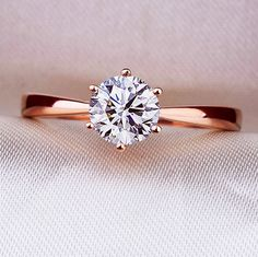 0.5 carat Round Forever One Moissanite by Mirabess