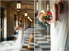 Peabody Opera House Weddings (Grand Lobby)- Photo courtesy of http://lphotographie.com -  Florals by http://www.artistryflorist.com/