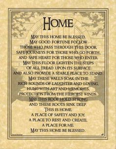 Home Blessing Parchment