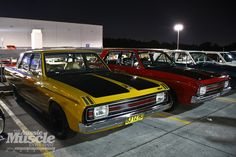 A flock (?) of Pacers! Chrysler Charger, Dodge Chrysler, Plymouth Scamp, Chrysler Valiant, Aussie Muscle Cars, Dodge Dart, Mopar, Cars And Motorcycles, Dream Cars