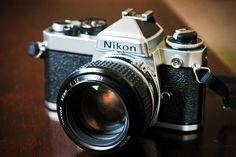 Nikon FE with Nikkor 50mm f/1.2
