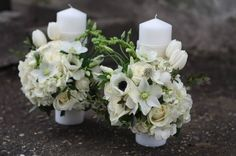 lumanari nunta scurte - Google Search Candels, Pillar Candles, Baby Christening, Wedding Styles, Pastel, Table Decorations, Google, Planters, Taper Candles