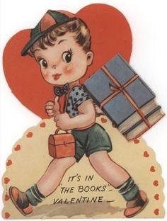 Vintage Book Valentine