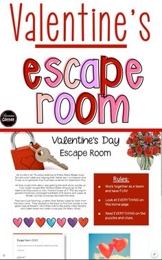 for escape room ideas? Kids will love this Valentine's Day classroom escape! It is an engaging Valentine's Day activity that is completely paperless! Your students will love this breakout activity that encourages peer collaboration and problem solving Valentines Kids Games, Kinder Valentines, Valentine Crafts For Kids, Valentines Day Activities, History Of Valentines Day, Valentine Ideas For Husband, Happy Valentines Day Mom, Valentines Day Gifts For Him Marriage, Romantic Valentines Day Ideas