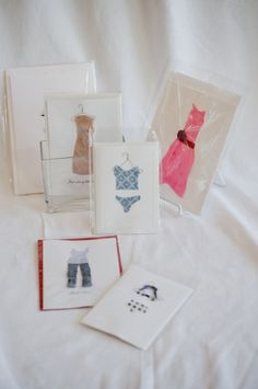 Hand Made Dress and Bikini Greeting Cards - Blank Inside. $6 each. Sold at Royal Bloom Boutique - 75 Arbor Rd. suite W. Menlo Park, CA. Photo by www.fotomokio.com