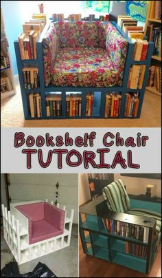 Enjoy a Good Read while Sitting on This DIY Bookcase Chair