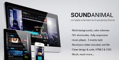 SOUNDANIMAL complete entertainment wordpress theme (Entertainment)