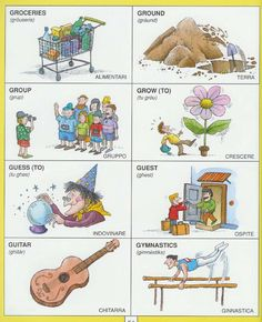 #1351 Parole Inglesi Per Piccoli e Grandi - #Illustrated #dictionary - G3