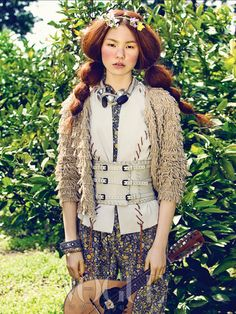 Bohemian Girls by Hyea W Kang Vogue Korea May 2012 Korea Fashion, Curvy Fashion, Boho Fashion, Fashion Beauty, Fashion Dresses, Bohemian Girls, Boho Girl, Bohemian Style, Vogue Editorial