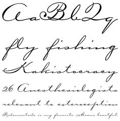 Tattoo Lettering Simple Cursive