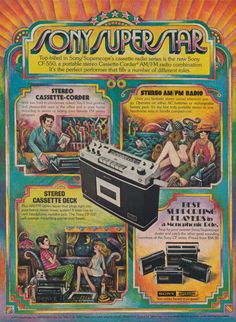 Items similar to Sony Superscope Cassette-Radio Series Ad Vintage Music Technology Advertising Art Print, Sony CF 550 Stereo Cassette Deck, Wall Decor on Etsy Vintage Music, Vintage Ads, Vintage Posters, Tape Recorder, Old Ads, Boombox, Car Audio, Sony, Televisions