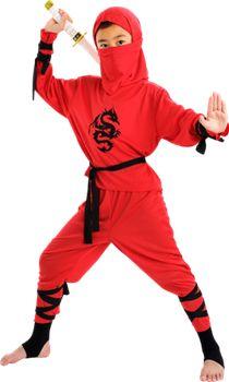 Rød ninjadragt - BR