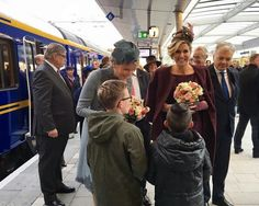 Queen Mathilde of Belgium and Queen Maxima of The Netherlands visited the Utrecht Central Station in province of Utrecht during on last day of the 3 day official state visit to the Netherlands on November 30, 2016.