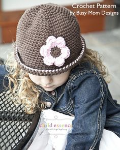 CROCHET Hat PATTERN - Daisy Cloche - All sizes included - Vintage style boutique hat - Sell your finished items - Easy - pdf 105. $3.95, via Etsy.