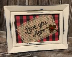Farmhouse Decor Winter Decor Farmhouse Wall Decor Plaid Frame Walking in a Winter Wonderland Framed Burlap Print Farmhouse Print Valentines Bricolage, Valentine Day Crafts, Valentine Ideas, Valentine Stuff, Printable Valentine, Homemade Valentines, Valentine Wreath, Valentine Box, Christmas Frames