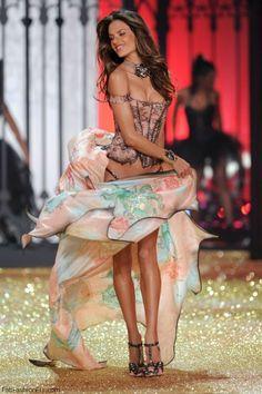 Alessandra Ambrosio at 2010 Victoria's Secret Fashion Show