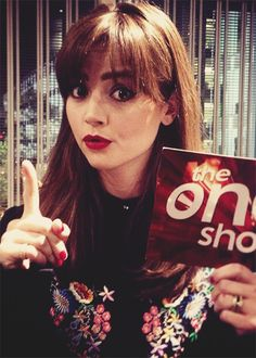 #DoctorWho's Jenna Coleman backstage at tonight's edition #TheOneShow.