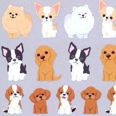 kawaii animals dog puppy stickers by Q-Lia 1 Cute Dog Drawing, Cute Animal Drawings, Kawaii Drawings, Cute Drawings, Pet Dogs, Dogs And Puppies, Images Kawaii, Dog Illustration, Illustrations