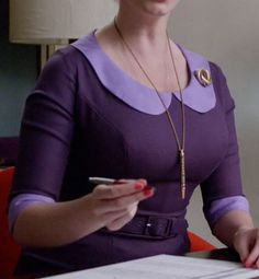 Joan Harris's Purple Dress from Mad Men: At the Codfish Ball #ShopTheShows #curvio