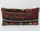 lumbar throw pillow bench pillow cover hippie pillow cover living room decoration kilim rug pillow couch pillow boho fabric rug pillow 25312