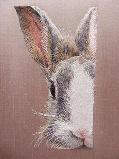Amazing bunny embroidery!